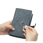 S02-CJ3214 Wool Felt 32K Notebook w/ 16GB USB 2.0 Flash Disk - Deep Grey