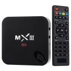 MXIII 4K Quad-Core Android 4.4.2  Google TV Player w/ 1GB RAM, 8GB ROM, Wi-Fi, TF - Black (UK Plug)