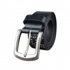 M149 Men's Fashionable Leather Pin Buckle Belt - Black