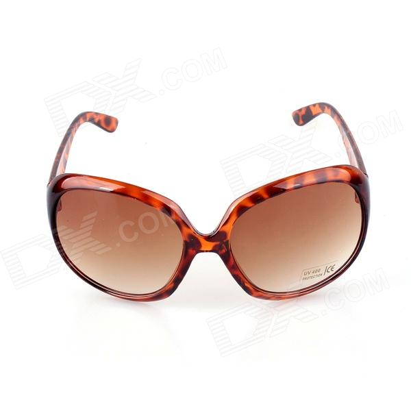 SYS0084 Women's Fashionable UV400 Protection PC Frame PC Lens Sunglasses - Brown mantra dali 0084