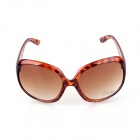SYS0084 Women's Fashionable UV400 Protection PC Frame PC Lens Sunglasses - Brown