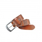 M149 Men's Fashionable Leather Pin Buckle Belt - Brown
