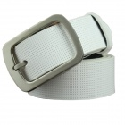 M131 Men's Fashionable Split Leather Pin Buckle Belt - white