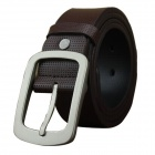 M131 Men's Fashionable Split Leather Pin Buckle Belt - Coffee