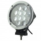 "LML-0460 60W 5400lm 6000K 12-Cree LED White  7"" Spot / Flood Working Light - Silver + Black (9~80V)"