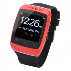 "S12 1.54"" Touch Screen Silicone Smart Bluetooth V3.0 Wrist Watch for IPHONE 5 - Red + Black"