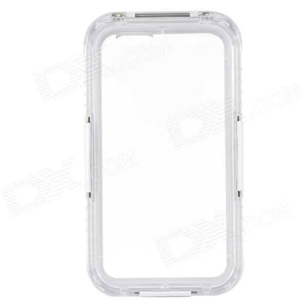 Saim Protective Waterproof Shock-resistant Case for IPHONE 6 - White + Transparent