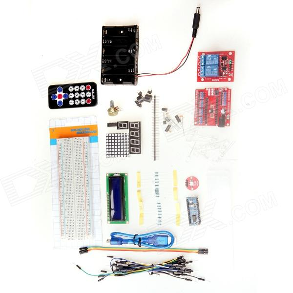 цены  Breadboard + Resistors + LEDs Learning Module Set for Arduino Nano - Multicolored