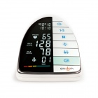 "5"" LCD Screen Arm Type Household Dual User Arrhythmia Sphygmomanometer - White + Black (4 x AAA)"