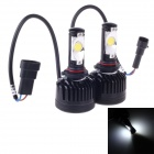 9005 36W 3600lm 6000K White Light CREE XML2 Car LED Head Lamp - Black + Silver (9~36V / 2 PCS)