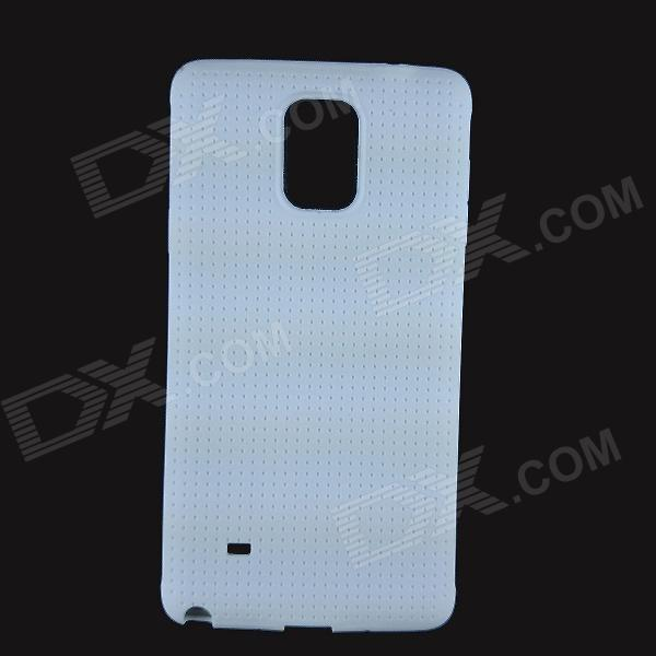 TPU Protective TPU Back Case for Samsung Galaxy Note 4 - White 2 in 1 detachable protective tpu pc back case cover for samsung galaxy note 4 black