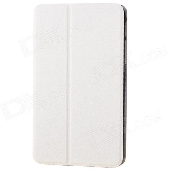 Protective PU Leather Case Cover Stand for Samsung Galaxy Tab 4 8.0 T330 - White protective pu leather case cover stand for samsung galaxy tab 4 8 0 t330 black