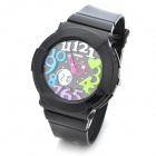 SKMEI 1020 Children's 50M Waterproof Double Movement & Display Electronic Watch - Black + Blue