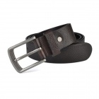 M155 Men's Top Leather Belt w/ Pin Buckle - Coffee
