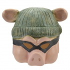 SYVIO GGbond / Cute Piggie Mask for Halloween / Cosplay / Costume Party - Green + Skin Color