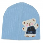 Fashion Four Seasons Soft Cotton Hat for 0~3 Years Old Children - Blue + White