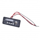 "1.0 ""tablero del módulo LED MP3 Decoder w / USB / Mini USB / SD / FM / control remoto - Negro (5V)"