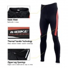 INBIKE CHY-THR Men's Ciclismo longo Jersey Top + Padded Pants Set - Branco + Preto + Multi-colorido (L)