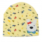 Cute Animal Pattern Four Seasons Soft Cotton Hat for 0~3 Years Old Children - Yellow + Multi-Color