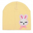 Fashion Four Seasons Soft Cotton Hat for 0~3 Years Old Children - Yellow + Red