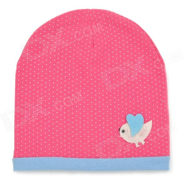 Fashion Four Seasons Soft Cotton Hat for 0~3 Years Old Children - Deep Pink + Blue