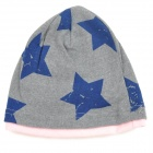 Fashion Star Pattern Four Seasons Cotton Hat for 0~3 Years Old Children - Grey + Deep Blue + Pink