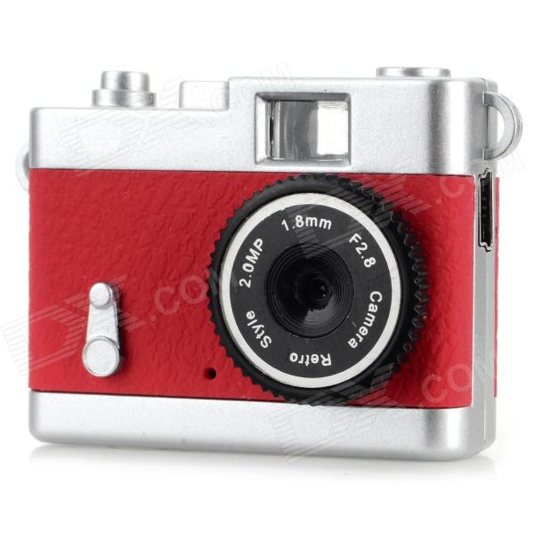 Ewtto ET-N3614 Mini 2.0MP CMOS Digital Camera DV - Red + Silver usb rechargeable mini 1 44 lcd 2 0m pixels cmos video camera red tf slot