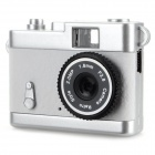 Ewtto ET-N3614 Mini 2.0MP CMOS Digital Camera DV - White + Silver