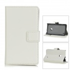 Protective PU Leather Case for Nokia Lumia 520 - White