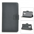 Protective Flip-Open PU + PC Case w/ Stand + Card Slot for LG G3 / D855 - Black