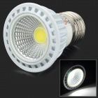 Lexing E27 3W 240lm 6500K COB White Light Straight Grain LED Spotlight Lamp - White + Silver