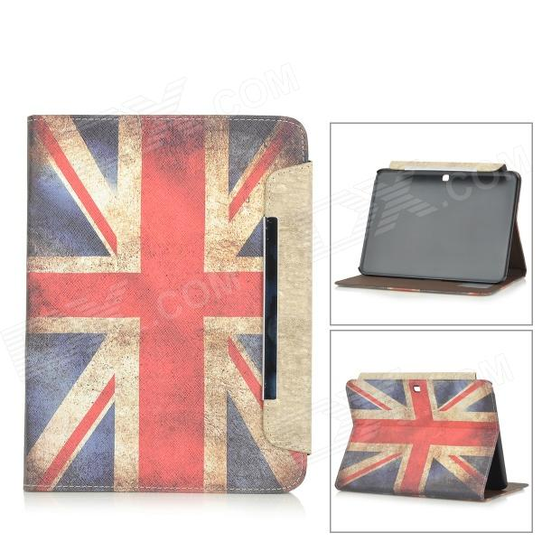 British Flag Patterned Wallet Style PU Case w/ Stand + Card Slot for Samsung Galaxy Tab 4 10.1 - DXCases<br>Color White + Blue + Multi-Colored Brand N/A Model KK-1 Quantity 1 Piece Shade Of Color White Material PU Compatible Brand Samsung Compatible Size 10.1 inch Style Antique Compatible Model Samsung Galaxy Tab 4 10.1 Type Leather Cases Other Features Protects your device from dust scratches and shock. Packing List 1 x Case<br>