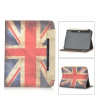 British Flag Patterned Wallet Style PU Case w/ Stand + Card Slot for Samsung Galaxy Tab 4 10.1