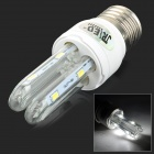 JRLED E27 3W 230LM 6500K 8-5730 SMD LED White Light Lamp - White + Silver (AC 85~265V)