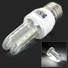 JRLED E27 6W 430LM 6500K 16-5730 SMD LED White Light Lamp - Silver + White (AC 85~265V)