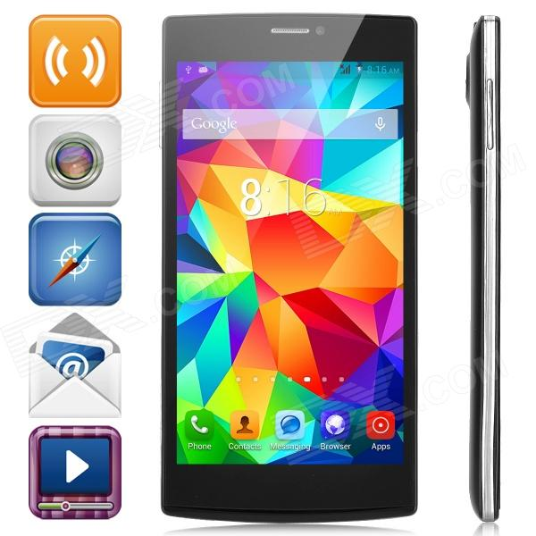 V5 Android 4.2 Dual-core WCDMA Bar Phone w/ 5.5 Screen, Wi-Fi and Bluetooth - Black p8 5 0 screen android 4 2 2 dual core wcdma gsm 3g smart phone w dual sim wi fi black