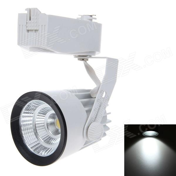 YCY 113COB 15W 1800lm 6000K 1-LED White Light Guide Rail Track Spotlight - Valkoinen + Musta (220V)