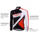 INBIKE CHY-THR Men's Cycling Long Jersey Top + Padded Pants Set - White + Black + Multicolored (XXL)