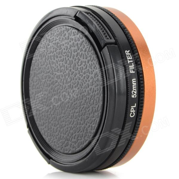 52mm CPL Lens + Adapter Ring + Lens Cover Set for GoPro HD Hero 3 / 3+ - Black + Rose Gold 52mm cpl lens adapter ring lens cover set for gopro hd hero 3 3 black rose gold