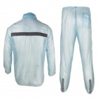 ARSUXEO N010 Outdoor Cycling Hooded Rain Coat Pants Rainwear - Light Blue (XL)