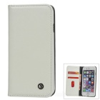"Protective Flip-open PU Leather Case w/ Holder for 4.7"" IPHONE 6 - White"