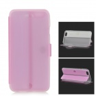 """Protective Flip-open PU + TPU Case w/ Holder for 4.7"""" IPHONE 6 - Pink + Translucent"""