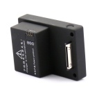 Universal 3.7V 2200mAh Battery w/ Back Case for GoPro Hero 3+ (Black + Transparent)