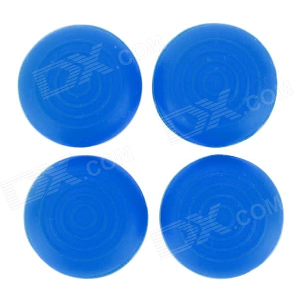 Silicone Thumb Grips Joystick Caps for XBOX ONE / XBOX 360 / PS4 / PS3 Controller - Blue (4 PCS) plastic 3d joystick caps for xbox one controller controller black white multicolored 15 pcs