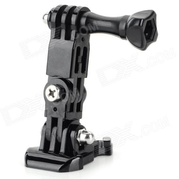Retractable Three-dimensional Adjustable Mount Base for GoPro 4 / 2 / 3 / 3+ / SJ4000 - Black