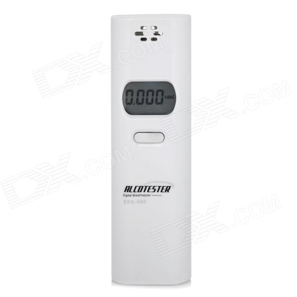 "EEK-400 Portable 1.8"" Screen Air Blow Alcohol Tester w/ Blue Backlight - White (2 x AAA)"