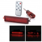 HT-1 Car Vehicle Mounted 4.8W 30lm Red Light Tail License Plate LED Scroll Displayer - Red + Black