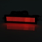 Gendarmerie HT-1 pour véhicules de 4.8W 30lm Red Light queue de plaque d'immatriculation LED Scroll Displayer - rouge + noir