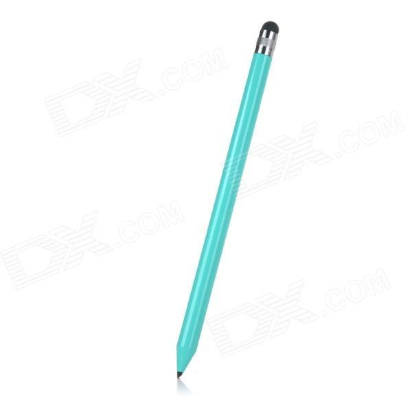 Universal ABS Plastic Handwriting Stylus Pen for Mobile Phone / Tablet PC - Light Blue + Silver