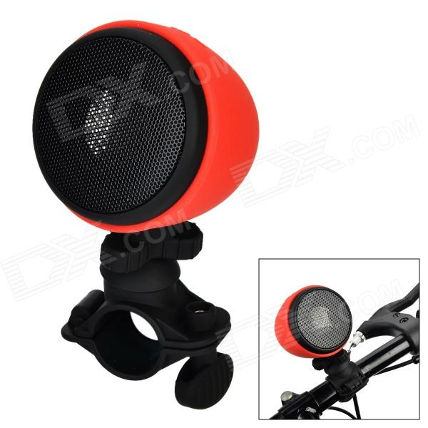 Portable Bicycle Waterproof IPX 4 Bluetooth V3.0+EDR Stereo Wireless Speaker - Red wireless bluetooth speaker led audio portable mini subwoofer